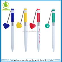 Cute plastic magnet ball pen with heart shape clip