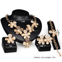 Fashion Flower Shape jewelry gold models, brazilian gold jewelry wholesale, indian gold jewelry