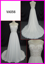 Sexy women beaded strap wedding dress column wedding dress long