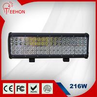 """Car accessory auto parts 17"""" quad row led light new bar design 216w"""