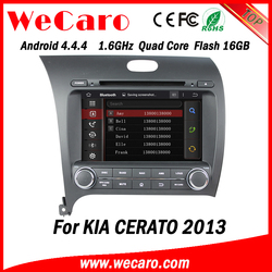 Wecaro WC-KU8051L Android 4.4.4 car stereo 1024 * 600 for kia cerato car dvd WIFI 3G 16GB Flash 2013 2014