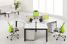 Modern office workstation for 3 person,open office workstation with metal frame BT04