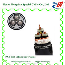 3*70, 11 KV,3 core, aluminum conductor/copper conductor XLPE Insulated armored electrical Power Cable from cabe China factory
