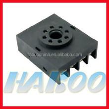 HABOO 10F-2Z-A mini relay electrical socket 2NO+2NC switch socket 10A 300V