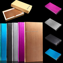 20000mah super slim aluminium alloy power bank with Dual USB for iphone for samsung
