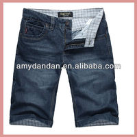 Hot sexy & competition denim shorts for men on OEM cooperation