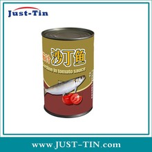 wholesale empty round small metal tin boxes tin cans clear lids for fish
