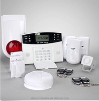 Spanish/Russian/France Easily Voice Announcement Burglar Home Alarm System with SMS Remote Control for GSM home alarm