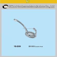 YB-E059 fashion metal double cloth wall hook coat hook bag hook