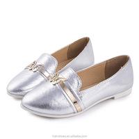 2015 New Autumn Casual Pointed Flat Loafers Flat Heel Women Shoes Swallow Mouth Fashion Ballet Shoes with Metal Butterfly