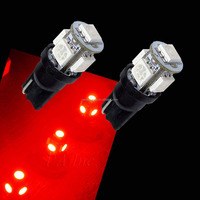 T10 194 5 SMD 5050 CAR LED FOR MOTOR AUTO SIDE MARKER LIGHT Bulb RED