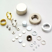 Ring shape neodymium magnet wholesale price D9.52xd6.35x1mm Gold coating