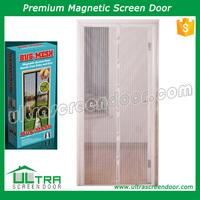 Low magnetic curtain rv window screen door
