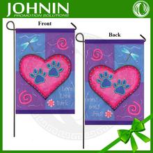 Dragonfly Dog prints Pink Heart Love Live Bark Valentine Garden Flag