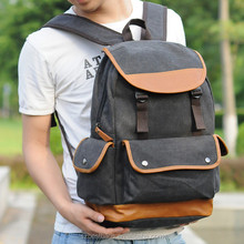 Daily Use Printed Leisure Canvas Backpack