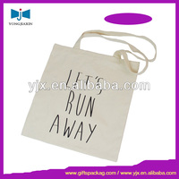 Raw cotton canvas tote bag for shopping