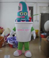 custom made high quality adult yogurt costume frozen yogurt mascot costume