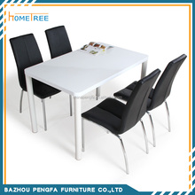 4+1 dining room high gloss wood used restaurant tables and chairs