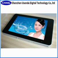 22inch wall mount display advertising board hd lcd media player with built-in pc