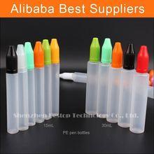 caldo di nuovi prodotti per liquidi per sigaretta elettronica vape 15ml liquido unicorno bottiglia con tappo a prova di bambino