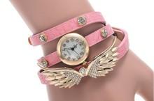 Hot Sale Luxury Vintage Crystal Quartz Wristwatch Women Leather Vintage Watch