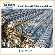 Armature, high tensile deformed steel rebar, iron rods for construction, building materials