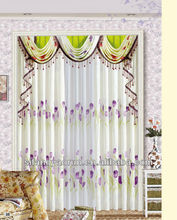 2013 balckout flocking textile fashion window curtain