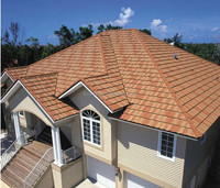 Interlocking Stone coated steel roofing tile