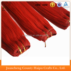 Factory price good quality hot sell hair mixed synthetic ombre hair weft sealer