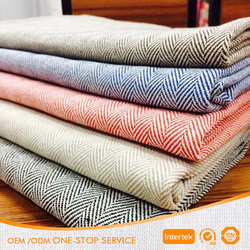 High Quality wholesale woven 100% cotton herringbone twill fabric for pants,beds