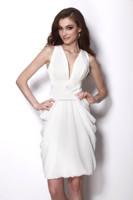 HT476Elegant legant Pure White latest night gown evening prom dress party dress