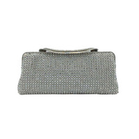 Soft ladies rhinestone purses,square crystal clutch,soft evening bag
