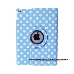 Colorful Spot PU Leather Case For iPad Mini Smart Cover Magnetic Stand 360 Rotation Girl Case for iPad