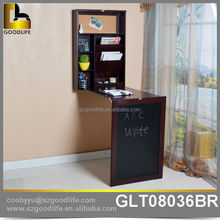 Wooden furniture in stock wall mounted folding desk with storage cabinet