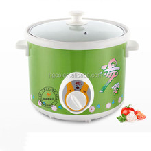 5L White iron housing round slow cooker