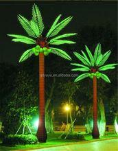 YAYE 2015 Best Sell CE/ROHS/ Warranty 2 Years LED Coconut Palm Tree Light & Outdoor Lighted Palm Tree with Waterproof IP65