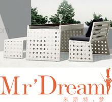 Mr sonho mobília ao ar livre, Rattan jardim longo cadeira de jantar CF69-B9312