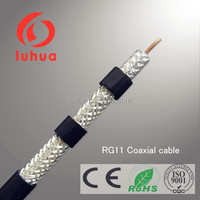 low loss coaxial cable RG11 75 ohms specification with Quadruple Shielding for CATV and MATV system (CE RoHS ISO9001) linan