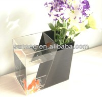 2014 plastic aquarium fish tanks, fancy fish tank with flower vase FT-035
