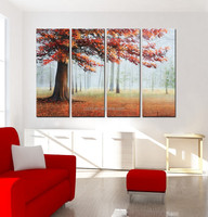 Abstract canvas oil painting art for living room
