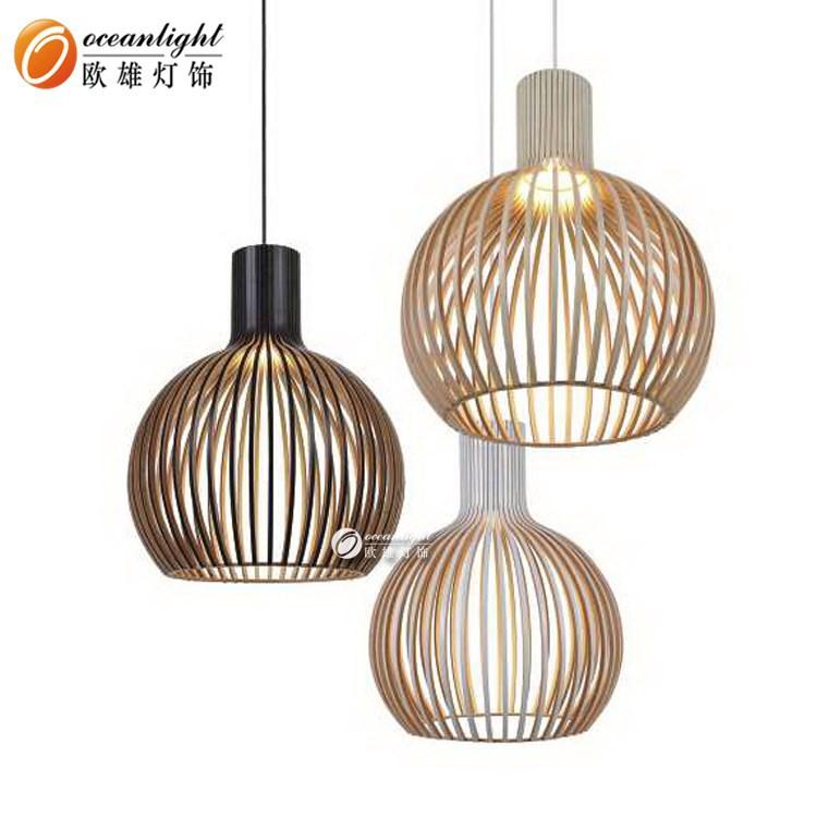 Mooie antieke houten kroonluchter hout hanglamp ow1001 for Design lamp hout