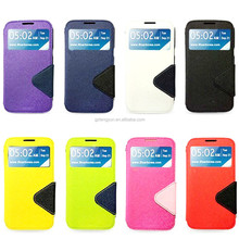 View window flip smart leather case for Samsung S6 with rope