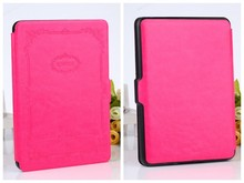 2015 Fashion classic pu leather case for amazon kindle voyage fire hd6