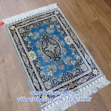 blue 2x3ft home hand made silk turkish design chinese rug for sale
