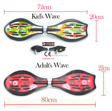 wave street surfing rocking plastic wave board two wheels skateboard