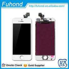 Alibaba Shenzhen factory supplier original LCD display for iphone 5 gold body