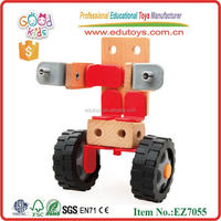 Great Christmas Gift Wooden Deformation Assembling Kids Vehicle Toys