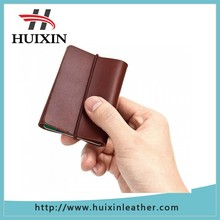 Most popular colored thin leather wallet , genuine leather moneywrap for travel