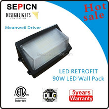 UL CSA 90w led wall pack light,meanwell driver with 5 years warranty