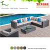 TG15-0019 Modern synthetic rattan outdoor sofa